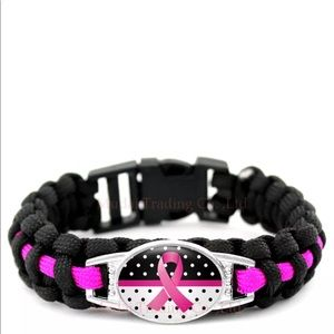 "Jewelry - Breast Cancer Bracelet Paracord 7.5"" inches 💋"